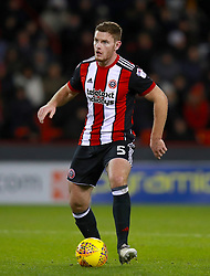 """Sheffield United's Jack O'Connell during the Sky Bet Championship match at Bramall Lane, Sheffield. PRESS ASSOCIATION Photo. Picture date: Friday December 8, 2017. See PA story SOCCER Sheff Utd. Photo credit should read: Mike Egerton/PA Wire. RESTRICTIONS: EDITORIAL USE ONLY No use with unauthorised audio, video, data, fixture lists, club/league logos or """"live"""" services. Online in-match use limited to 75 images, no video emulation. No use in betting, games or single club/league/player publications."""