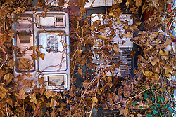 Disused telephone box UK