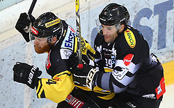 21.10.2016, Albert Schultz Halle, Wien, AUT, EBEL, UPC Vienna Capitals vs Dornbirner Eishockey Club, 12. Runde, im Bild Jamie Fraser (UPC Vienna Capitals) und Matt Siddall (Dornbirner Eishockey Club) // during the Erste Bank Icehockey League 12th Round match between UPC Vienna Capitals and Dornbirner Eishockey Club at the Albert Schultz Ice Arena, Vienna, Austria on 2016/10/21. EXPA Pictures © 2016, PhotoCredit: EXPA/ Thomas Haumer
