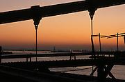 New York City bay at sunset