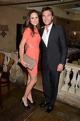 BEN CARING and his wife ELLE at an evening of Dinner & Dancing at Daphne's, 112 Draycott Avenue, London SW3 on 24th July 2013.