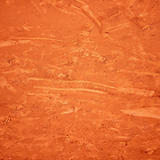 PARIS, FRANCE October 04. Patterns in the clay court surface during the Rafael Nadal of Spain match against Sebastian Korda of the United States in the fourth round of the singles competition on Court Philippe-Chatrier during the French Open Tennis Tournament at Roland Garros on October 4th 2020 in Paris, France. (Photo by Tim Clayton/Corbis via Getty Images)
