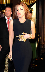 Lady Gaga arrives for the launch of her latest perfume range 'Fame' at Harrods in London, Sunday 7th October 2012 Photo by: i-Images