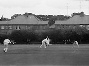 18/07/1970<br /> 07/18/1970<br /> 18 July 1970<br /> Cricket: Clontarf 1st XI v Old Belvedere, Leinster Senior Cup Final at Clontarf Cricket Club, Castle Avenue, Dublin. Kevin O'Riordan, Old Belvedere, batting.