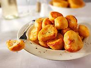 Traditional British roast potatoes stock photos