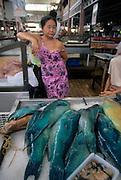 Fish Market, Papeete, Tahiti, .French Polynesia