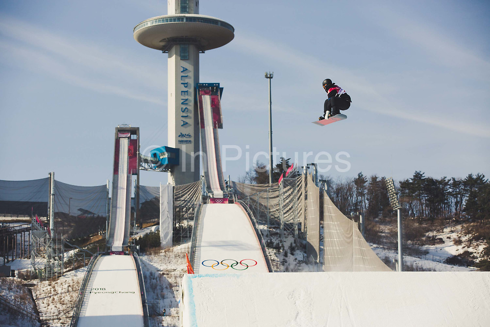 Niklas Mattsson, Sweden, during the mens snowboard big air qualification at the Pyeongchang 2018 Winter Olympics on February 21st 2018, at the Alpensia Ski Jumping Centre in Pyeongchang-gun, South Korea