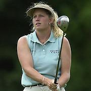 Sat 4th August 2001.Johanna Head  on the 2nd tee.2001 Weetabix Women's Open, Sunningdale,..[Mandatory Credit Peter Spurrier/ Intersport Images]