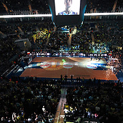 Fenerbahce Ulker's and EA7 Emporio Armani's during their Turkish Airlines Euroleague Basketball Top 16 Group G Game 2 match Fenerbahce Ulker between EA7 Emporio Armani at Fenerbahce Ulker Sports Arena in Istanbul, Turkey, Wednesday, January 25, 2012. Photo by TURKPIX