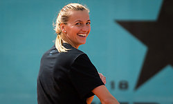May 8, 2019 - Madrid, MADRID, SPAIN - Petra Kvitova of the Czech Republic practices ahead of her third-round match at the 2019 Mutua Madrid Open WTA Premier Mandatory tennis tournament (Credit Image: © AFP7 via ZUMA Wire)