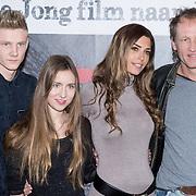 NLD/Anjum /20131211 - Persdag speelfilm Stuk, cast, acteurs Leo de Jong, Elodie Hooftman, Steven de Jong en Yolanthe Cabau van Kasbergen en Iris Kroes