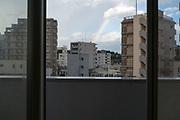 rainbow and residential high-rise buildings Yokosuka Japan