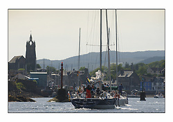 Bell Lawrie Series Tarbert Loch Fyne - Yachting.The third day's inshore races, which transpired to be the last...4420C Xanadu an X442 enters Tarbert Harbour with the fleet..