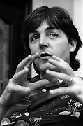Paul McCartney at Soho Square office 1980