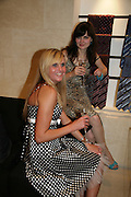 ASTA GERVYTE AND guest. De Grisogono & Londino Car Rally  party. <br />