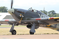 Hawker Hurricane 2B Royal International Air Tattoo 2010 RAF Fairford, UK, 16 July 2010: For piQtured Sales contact: Ian@Piqtured.com +44(0)791 626 2580 (Picture by Richard Goldschmidt/Piqtured)