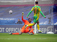 Football - 2020 / 2021 Premier League - Chelsea vs West Bromwich Albion - Stamford Bridge<br /> <br /> Callum Robinson of West Brom scores goal no 5 past goalkeeper, Edouard Mendy<br /> <br /> Credit COLORSPORT/Andrew Cowie