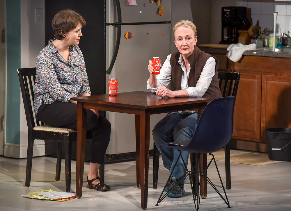 """Photo by Mara Lavitt<br /> New Haven, CT<br /> April 26, 2017<br /> Technical rehearsal for Yale Repertory Theatre's production of """"Mary Jane."""" Emily Donahoe , left, and Kathleen Chalfant."""