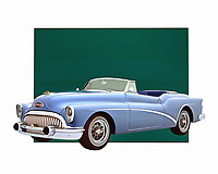 The Buick Skylark is one of the great cars of its time and place. You can travel back to the glory days of that automobile with this absolutely stunning digital painting. You can find all of the details coming to bold, brilliant life. The history of this convertible has never been more engaging. .<br />