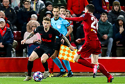 Kieran Trippier of Atletico Madrid takes on Andrew Robertson of Liverpool - Mandatory by-line: Robbie Stephenson/JMP - 11/03/2020 - FOOTBALL - Anfield - Liverpool, England - Liverpool v Atletico Madrid - UEFA Champions League Round of 16, 2nd Leg