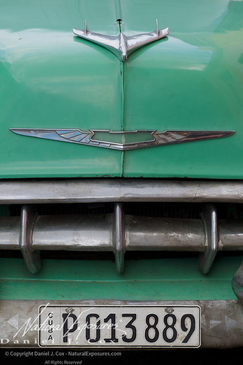 An old, vintage, Chevy, Cuba.