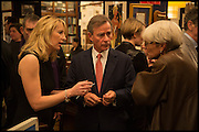 VICKY WARD; ROBBIE RAYNES; BENNY RAYNES, Book party for 'The Liar's Ball' by Vicky Ward hosted by  Sir Evelyn  de Rothschild at Henry Sotheran's, 2 Sackville Street London. 25 November 2014