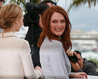 Mia Wasikowska, Julianne Moore at the photo call for the film Maps To The Stars at the 67th Cannes Film Festival, Monday 19th May 2014, Cannes, France.