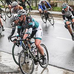 WEVELGEM (BEL) wielrennen: De vrouweneditie van Gent-Wevelgem werd onder epische omstandigheden verreden. Wind en regen waren naast de heuvels de tegenstander van het vrouwenpeloton.<br /> Kirsten Wild
