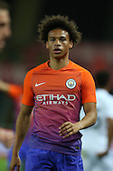 Leroy Sane of Manchester city looks on.EFL Cup. 3rd round match, Swansea city v Manchester city at the Liberty Stadium in Swansea, South Wales on Wednesday 21st September 2016.<br /> pic by  Andrew Orchard, Andrew Orchard sports photography.