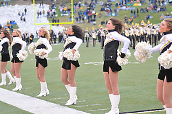 Nov 13, 2010; Columbia, MO, USA; Missouri Tigers cheerleaders perform for the crowd before the game against the Kansas State Wildcats at Memorial Stadium. Missouri won 38-28.  Mandatory Credit: Denny Medley-US PRESSWIRE