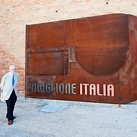 Italian Architect Vittorio Gregoretti attends the Press Opening for the 13th  Venice Architecture Exhibition August 27, 2012 in Venice, Italy.