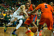 WACO, TX - JANUARY 3: Isaiah Austin #21 of the Baylor Bears reaches for a lose ball against the Savannah State Tigers on January 3, 2014 at the Ferrell Center in Waco, Texas.  (Photo by Cooper Neill) *** Local Caption *** Isaiah Austin