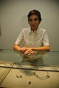 Alexandra Jefford.  Alexandra Jefford's jewelry Exhibition at White Cube, Mason's Yard, St James'sLondon, 6 November 2006. ONE TIME USE ONLY - DO NOT ARCHIVE  © Copyright Photograph by Dafydd Jones 66 Stockwell Park Rd. London SW9 0DA Tel 020 7733 0108 www.dafjones.com