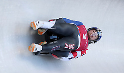 USA's Justin Krewson and Andrew Sherk during the Men's Double Luge practice during day three of the PyeongChang 2018 Winter Olympic Games in South Korea.