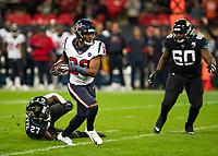 American Football - 2019 NFL Season (NFL International Series, London Games) - Houston Texans vs. Jacksonville Jaguars<br /> <br /> Justin Reid, Strong Safety, (Houston Texans) runs free at Wembley Stadium.<br /> <br /> COLORSPORT/DANIEL BEARHAM