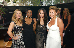 Pop group THE SUGABABES and CHARLOTTE CHURCH at the 2006 Glamour Women of the Year Awards 2006 held in Berkeley Square Gardens, London W1 on 6th June 2006.<br />