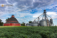 The J.H. Manchester Round Barn in New Hampshire, Ohio, USA