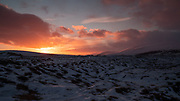 Winter sunrise at Goðafoss, northern Iceland