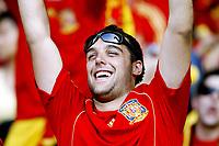 GEPA-2206086820 - WIEN,AUSTRIA,22.JUN.08 - FUSSBALL - UEFA Europameisterschaft, EURO 2008, Spanien vs Italien, ESP vs ITA, Viertelfinale. Bild zeigt einen Spanien-Fan.<br />Foto: GEPA pictures/ Felix Roittner