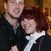 NLD/Amsterdam/20131105 - Geerd Smid met partner Sanne Kraaijkamp en zus Coosje Smid