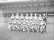 Dublin vs Derry, All Ireland Final at Croke Park. Derry team shot.   ..28.09.1958, 09.28.1958, 28th September 1958