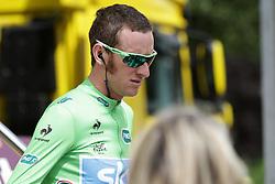 01.07.2012, Luettich, BEL, Tour de France, 1. Etappe Luettich-Seraing, im Bild WIGGINS Bradley (SKY Procycling) nach der Einschreibung // during the Tour de France, Stage 1, Liege-Seraing, Belgium on 2012/07/01. EXPA Pictures © 2012, PhotoCredit: EXPA/ Eibner/ Ben Majerus..***** ATTENTION - OUT OF GER *****