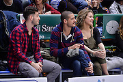 DESCRIZIONE : Beko Legabasket Serie A 2015- 2016 Dinamo Banco di Sardegna Sassari - Obiettivo Lavoro Virtus Bologna<br /> GIOCATORE : Marco Spissu Massimo Chessa<br /> CATEGORIA : Tifosi Pubblico Spettatori VIP<br /> SQUADRA : Dinamo Banco di Sardegna Sassari<br /> EVENTO : Beko Legabasket Serie A 2015-2016<br /> GARA : Dinamo Banco di Sardegna Sassari - Obiettivo Lavoro Virtus Bologna<br /> DATA : 06/03/2016<br /> SPORT : Pallacanestro <br /> AUTORE : Agenzia Ciamillo-Castoria/L.Canu