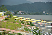 Chungju, South Korea. 2013 FISA World Rowing Championships, General Views of the  Tangeum Lake International Regatta Course. 09:08:39  Saturday  24/08/2013 [Mandatory Credit. Peter Spurrier/Intersport Images]