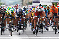 Sykkel<br /> Foto: Dppi/Digitalsport<br /> NORWAY ONLY<br /> <br /> CYCLING - UCI PRO TOUR - CRITERIUM DU DAUPHINE LIBERE 2005 - 06/06/2005 <br /> <br /> STAGE 1 - AIX-LES-BAINS-->GIVORS - ROBERT HUNTER (RSA) / PHONAK - 2ND - THOR HUSHOVD (NOR) - WINNER
