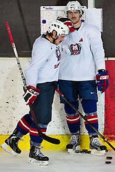 Gasper Kopitar and Anze Kopitar at first practice of Slovenian National Ice Hockey team before EIHC tournament in Ljubljana, on November 5, 2012 in Ledena dvorana Bled, Bled, Slovenia. (Photo by Matic Klansek Velej / Sportida.com)