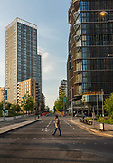 Stratford City, a mixed-use development project includinf Westfields shopping city during the coronavirus pandemic on the 7th May 2020 in London, United Kingdom. With a total retail floor area of 1,910,000 square feet 177,000 m2, it is one of the largest urban shopping centres in Europe.
