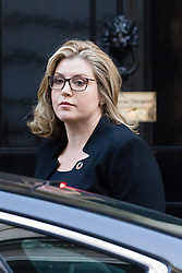 © Licensed to London News Pictures. 09/10/2018. London, UK.  Penny Mordaunt,<br /> Secretary of State for International Development arrives in Downing Street for a cabinet meeting.  Photo credit: Vickie Flores/LNP