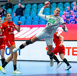 Luisa Schulze of Germany during the Women's EHF Euro 2020 match between /Germany and Poland at Sydbank Arena on december 07, 2020 in Kolding, Denmark (Photo by RHF Agency/Ronald Hoogendoorn)