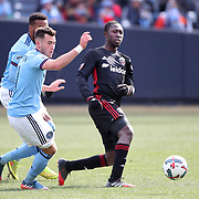 NEW YORK, NEW YORK - March 12:  Patrick Nyarko #12 of D.C. United in action during the NYCFC Vs D.C. United regular season MLS game at Yankee Stadium on March 12, 2017 in New York City. (Photo by Tim Clayton/Corbis via Getty Images)